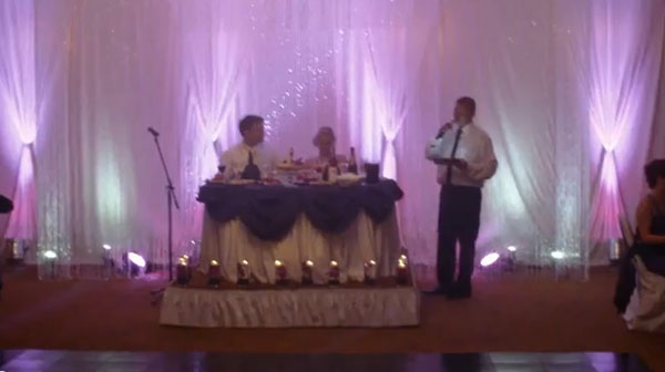 Russian-American wedding, Buffalo Grove, Illinois, MC MISHA